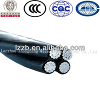 XLPE Insulated Quadplex Overhead Cable ABC Cable