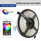 640000 colors phone control led dc strip light prefabricated coffee shop