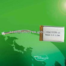 rechargeable high capacity li polymer li-ion rc li-polymer battery 3.7v 900mah