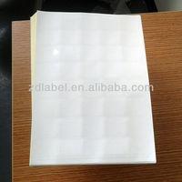 Adhesive label printing machine die cutting label