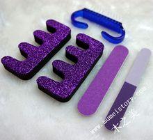 Heat!!! free style 5 pcs opp nail kit package nail art tool bag