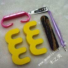 Hot !! free style 5 pcs opp package nail kit nail art tool bag