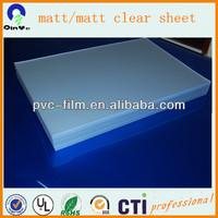 100% virgin pvc material matte clear sheet/fine frost pvc sheet/clear/matte/screen protector