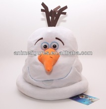 Movie Frozen Snow Man Olaf Plush Hats for wholesale