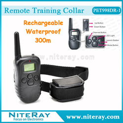 Waterproof & rechargeable leash pet shock collar pet electronic training collar dogs training supplies with LCD display