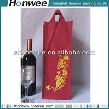 fashional customized velvet wine gift bag