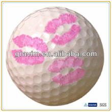 Pink kiss plastic practice golf ball