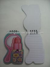 lipstick mirror shaped spiral notebook / mini notebook / pocket notebook