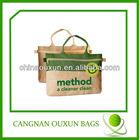 fashion jute bag with zipper