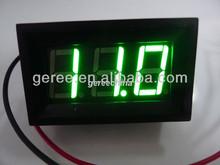 """Green LED diaplsy DC digital voltage panel meter 0.56"""" 2.7-30v"""