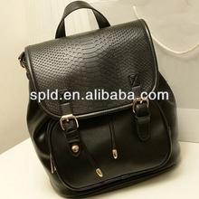 European classic style three colors fashionable girls waterproof SNAKE SKIN backpack