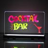 RGB LED Illuminated neon shin writable Acrylic Menu board