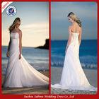 GWA299 Cheap flowing chiffon beach wedding dress wedding dresses for fat woman imported from china