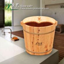 special design wooden foot soaking bucket, bath barrel, vapour blasting Foot Massage