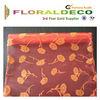 Gift box decorative fabric,elegant floral printed flocking organza