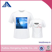 High Quality White Polyester Custom Bicycle Club Women Printed tshirts