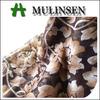 Mulinsen Textile High Quality 100% Polyester Printed Silk Chiffon Fabric Metallic