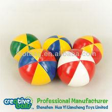 2014 new design Plastic Beans Filled Toss juggling balls