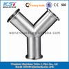 sanitary stainless steel 304 y type tee pipe fittings
