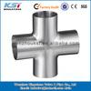 ss304 short type cross welding cross pipe fitting cross