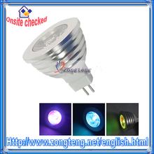 16 Color Remote Control RGB LED Light Bulb MR16 3W 12V