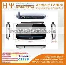 cs918 android smart tv box rk3188 ram 2gb rom 8gb google android 4.2 mini pc tv box