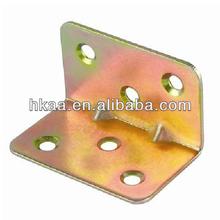 custom oem brass iron metal angle l corner bracket for furniture,zinc plated supplier
