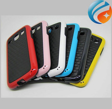 Soft Rubber Neoprene TPU Cover Carbon firber Pattern Case for Samsung Galaxy Core I8260