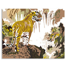 2014 Fashion Calligraphy DIY Digital Oil Painting Tiger Painting By Numbers Acrylic Paint