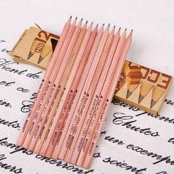 Japanese and Korean non-toxic raw wood pencils