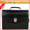 Famous brand men's business bag leather briefcase with secret compartment