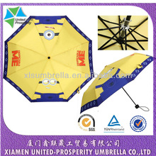 Despicable Me lovely minions telescopic umbrella that sweep the world