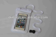 For iphone 5s waterproof earphone bag with neck cord
