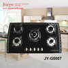 Glass top cast iron grate gas stove with high pressure with safety device for optional JY-G5007