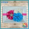Wholesale Hot Pink Baby Headband, Infant Headband, Newborn Headband Lavender Headband Frayed Chiffon and Lace Flower Headband