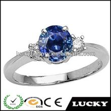 Dongguan fashion design bule stone jewelry ring lot