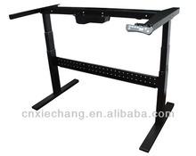 Two-leg ergonomic adjustable manager table