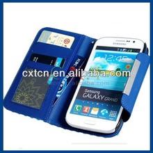 Polka Dot Faux Leather Flip Case for Samsung Galaxy Grand I9082 (Blue)
