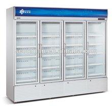 High Quality Aluminum Door Upright Chiller/ Upright Glass Door Drink Fridge