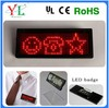 2014 USB rechargeable led scrolling badge& Multi-language led name badge