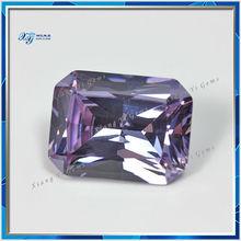 2014 Hot sale Amethyst princess cut 25x20mm Rectangle wholesale synthetic loose cz
