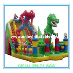 2014 giant/kids/jump/spiderman/dinosaur/inflatable amusement playground