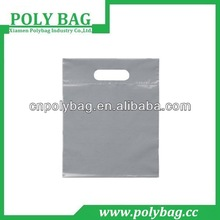 2014 new white die cut plastic bags for shopping
