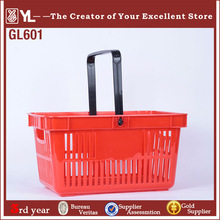 2014 hot sales new product hand durable plastic 28L for supermarket shopping baskets