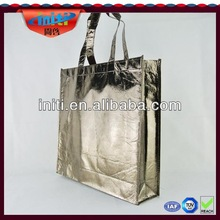 silver laminated non-woven tote bag / alibaba china manufacturer new products 2014 silver laminated non-woven tote bag