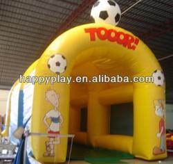 high quality inflatale soccer game football soccer goals mini football goal