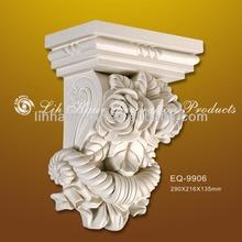 2014 nuevo estilo de decoración de poliuretano ménsula/trompa de decoración de interiores