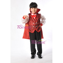 2015 wholesale kids' Devil Costumes With Cape,Boys Halloween cosplay Costume