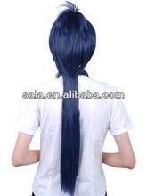 Wholesale cosplay hair wig dark blue stright cosplay wig cosplay long stright hair wig