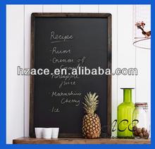 Wooden Blackboard Small Framed Wooden Menu Board for Pub Advertising Black Board